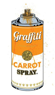 Graffiti Carrot Spray Can Digital Art