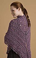 Free Knitting Pattern from Lion Brand Yarn Lion Brand® Homespun® Easy Triangle Shawl Knitting Patterns Free, Knit Patterns, Free Knitting, Free Pattern, Charity Knitting, Knitting Stitches, Crochet Prayer Shawls, Knitted Shawls, Crochet Shawl