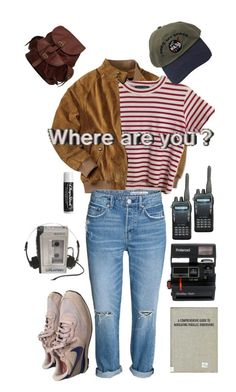 """Stranger Things Vibe"" by heyyouitsmegrace on Polyvore featuring NIKE, Sony, Polaroid, Chapstick, AmeriLeather and vintage"
