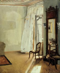Color & Light - Adolph von Menzel - The Balcony Room - 1845