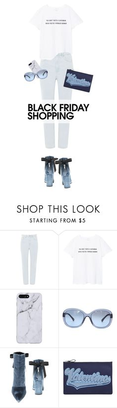 """""""Shopping Time"""" by natyleygam ❤ liked on Polyvore featuring Topshop, MANGO, Chanel, Robert Clergerie, Valentino, white, Blue and velvet"""