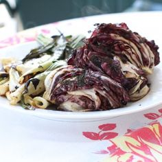 Grilled Radicchio & Onions--would go great as a side dish with spaghetti if you opt out of the traditional green salad