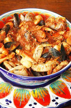 Barbara Adams Beyond Wonderful Cioppino Seafood Stew Italian Recipe Italian Seafood Stew, Seafood Gumbo, Italian Pasta Recipes, Seafood Dinner, Italian Dishes, Mussels Seafood, Seafood Linguine, Fish Recipes, Seafood Recipes