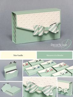 Porte Cartes de Visite Perforatrice Noeud In French but easy enough to understand!In French but easy enough to understand! Paper Purse, Envelope Punch Board, Envelope Box, Craft Box, Card Tutorials, Box Cards Tutorial, Home And Deco, Stamping Up, Diy Cards