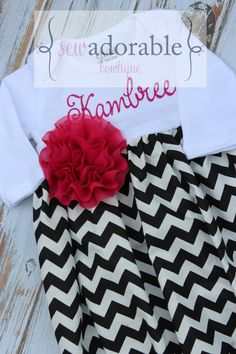 Bring home your new baby girl from the hospital in the custom made chevron baby gown! Monogramming included! Also makes a great baby shower gift