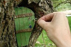 Fairy door! I have the perfect tree for this.