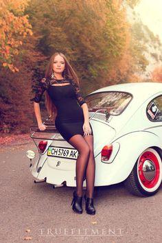 Volkswagen, Pin Up, Vans Girls, Vw Cars, Vw Beetles, Classy Women, Sexy Legs, Lady Bugs, Sedans