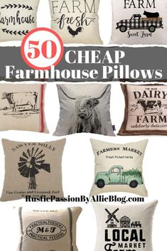 50 Farmhouse Pillows for CHEAP. These Farmhouse Pillows are gorgeous and so cheap! You can decorate your dream home with these neutral throw pillows for your living room. Farmhouse Throws, Farmhouse Bench, Farmhouse Decor, Farmhouse Style, City Farmhouse, Farmhouse Plans, Throw Pillow Covers, Throw Pillows, Decor Pillows