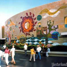 Old Mary Blair murals in Disneyland from one of my favorite websites, Yesterland