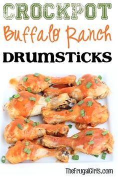 Give your ordinary drumsticks some serious kick with this easy Crockpot Buffalo Ranch Chicken Drumsticks Recipe! Perfect for dinner and of course game day!
