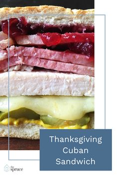 A Thanksgiving Cuban Sandwich Is the Ultimate Leftovers Lunch Thanksgiving Leftover Recipes, Thanksgiving Leftovers, Thanksgiving Side Dishes, Ham Recipes, Best Dinner Recipes, Holiday Recipes, Holiday Foods, Chicken Recipes, Leftover Honey Baked Ham Recipe