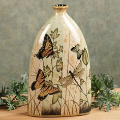 Natures Delight Butterfly Vase