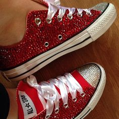 Fully covered ADULTS low rise Converse by KellyJellyJewelsKJJC e78463f2c