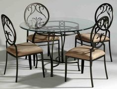 [ Pics Photos Wrought Iron Dining Room Furniture Set Pic Www Chairs Dinette Sets Table ] - Best Free Home Design Idea & Inspiration Dining Room Furniture Sets, Metal Dining Chairs, Wrought Iron Table, Glass Top Dining Table, Dining Table In Kitchen, Wrought Iron Glass, Dining Table Chairs, Rectangular Dining Table, Wrought Iron Dining Table