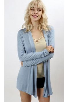 Buy Blue knitted waterfall cardigan at Pop Up Fashion Sale for ...