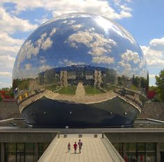 La Geode. Amazingly, this ultra sleek, mirrored dome opened in 1986.