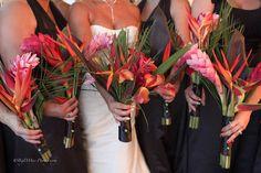 Beautiful tropical  bouquets