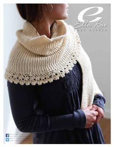 Pattern $5.00 Cozy+Alpaca+-+Garter+Stitch+&+Lace+Edge+Wrap+from+Cozy+Alpaca+-+Garter+Stitch+&+Lace+Edge+Wrap+by++at+KnittingFever.com