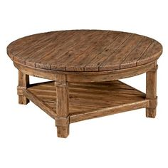 Rustic Round Coffee Table | Home Design