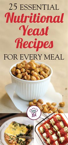 """25 Essential Nutritional Yeast Recipes for Every Meal - Nutritional yeast (sometimes call """"nooch"""") has many benefits and uses. It can be a cheese substitute, a salt replacement and a great gravy for a (Paleo Vegetarian Nutritional Yeast) Nutrition Education, Proper Nutrition, Nutrition Tips, Healthy Nutrition, Healthy Eating, Healthy Recipes, Health Tips, Holistic Nutrition, Cheese Nutrition"""