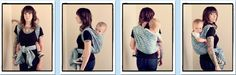 Jordan's Back Carry / JBC  {from Babywearing 102: Wrapping 360 Project}   ***mid-length wrap carry