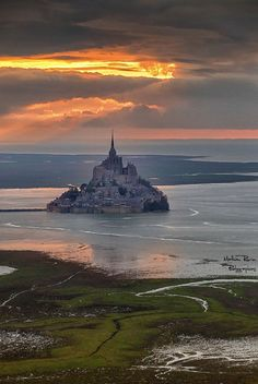 Aerial shot in Mont Saint-Michel - France by Mathieu RIVRIN on 500px