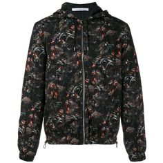 Givenchy baboon print windbreaker jacket ($848) ❤ liked on Polyvore featuring men's fashion, men's clothing, men's outerwear, men's jackets, black, mens zip jacket, mens windbreaker jacket, mens light weight jackets, mens lightweight jacket and mens hooded jackets