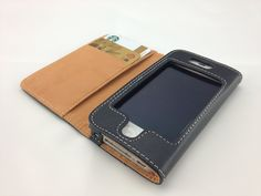 Handstitched by page leather works, Leather iphone wallet case (iPhone 4 / 4S)  http://www.versionwallet.com/products/handstitched-by-page-leather-works-leather-iphone-wallet-case-iphone-4-4s