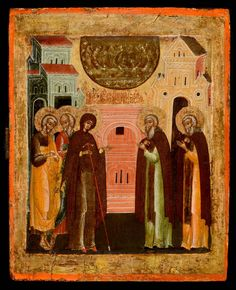 Appearance of the Virgin to St Sergei of Radonezh - Morsink Icon Gallery