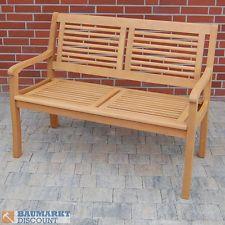 Details Zu Casaya Paolo 2 Sitzer Gartenbank Eykalyptus Holzbank Bänke  Terrasse Teakoptik