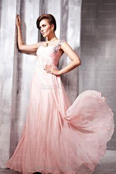 Pink Criss Cross Evening Dress #evening  #dress