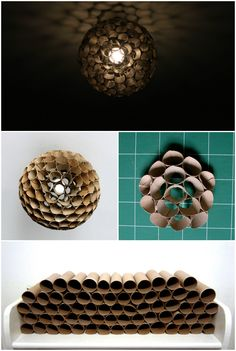 Toilet Paper Roll Lampshade