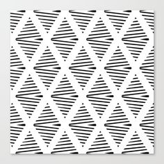 black and white geometric pattern (by Georgiana Paraschiv - Society6)