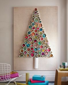 PVC tree - again they enchant me - those silly circles