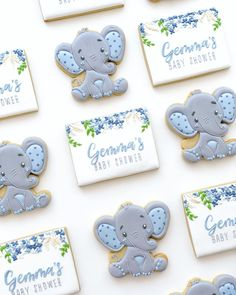ideas baby shower elephant cookies desserts for 2019 Elephant Baby Boy, Elephant Baby Shower Cake, Elephant Party, Elephant Theme, Baby Boy Shower, Baby Shower Prizes, Baby Shower Favors, Baby Shower Themes, Baby Shower Gifts