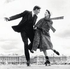 1950s - She looks happy with her dapper gentleman friend!