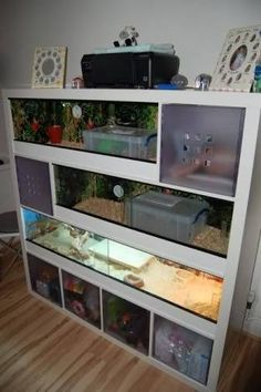 Image result for Ikea expedit with aquarium