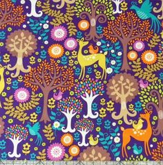 Michael Miller Norwegian Woods Fantasy Forest Fabric