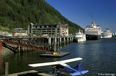 Juneau Cruise Docks - Juneau is the Capital of Alaska and can only be reached by boat or ship