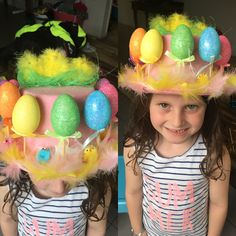 Ciennas Easter hat.