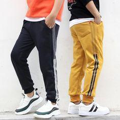2020 New Fashion Brand Kids Boys Pants Letter Print Cotton Trousers Children Sport Pants Casual Kids Clothes Blue Yellow Grey Sports Trousers, Sport Pants, Jogging, Kids Pants, Boys Shirts, Fashion Pants, Boy Outfits, Korean Fashion, Training