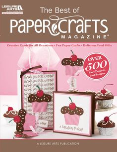 The Best of Paper Crafts Magazine  is a #paper crafter's dream collection; compiling more than 500 of the best projects from recent years of the magazine and its special issues. Cards are a major focus; along with a bonus collection of paper crafted containers and keepsake treasures to accompany simple food gifts (recipes included!).