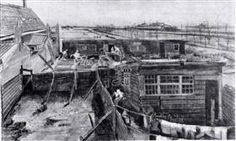 Carpenter's Yard and Laundry - Vincent van Gogh