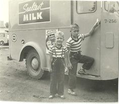 Don't know these boys but Sealtest milk and MacDonalds dairy were delivered to your house. We had a milk chute by our back door.
