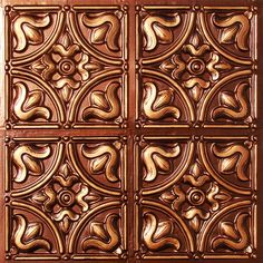 Antique Copper Ceiling Tile. Kitchen will have this as well. Have always loved a copper ceiling in the kitchen.