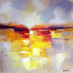 Abstract landscape, The New World 2, contemporary art painting by Zlatko Music