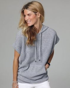 Cashmere Hooded Longline Sweater
