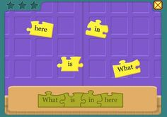 great sites for young students to work  on building and creating complete sentences