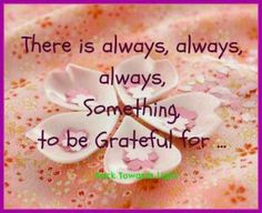 Today...I'm grateful for EVERYTHING!