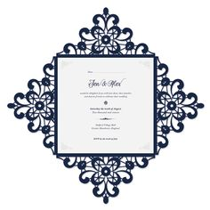 Printable laser cut wedding invitation template vector for Final cut pro wedding templates